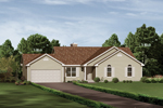 Ranch House Plan Front of Home - 001D-0001 | House Plans and More