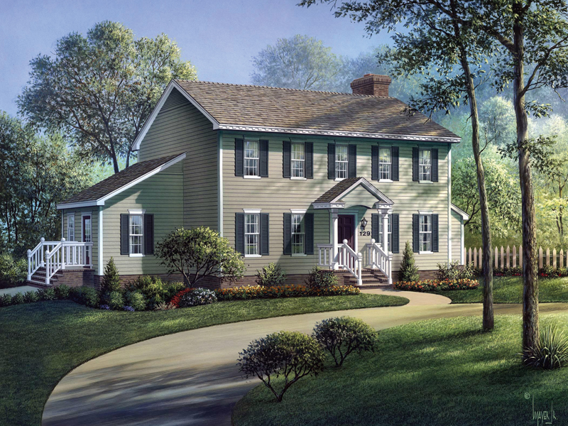 Walton Colonial Home Plan 001d 0002 House Plans And More