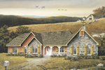 Ranch House Plan Front Image - 001D-0007 | House Plans and More
