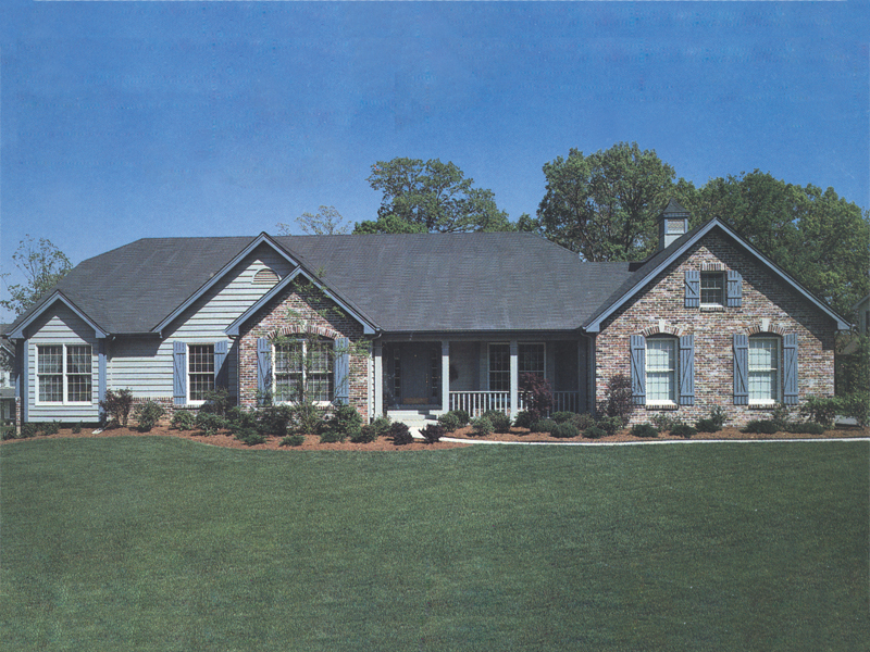 Ranch House Plan Front of Home 001D-0007