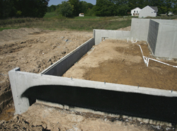 basement foundation under construction - House Plans With Basement