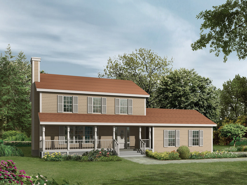 Farmhouse Plan Front of Home - 001D-0025 | House Plans and More