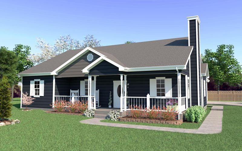 Ranch House Plan Front of Home 001D-0031