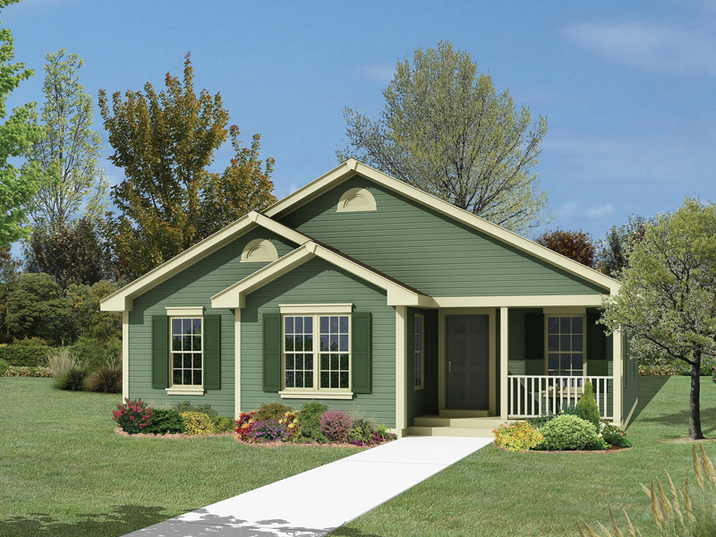 Ranch House Plan Front of Home 001D-0035