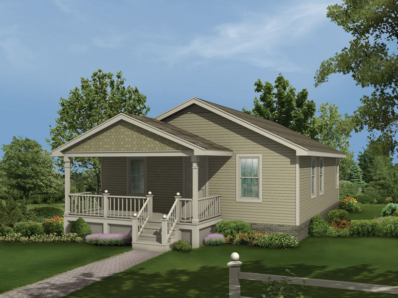 Ranch House Plan Front of Home 001D-0036