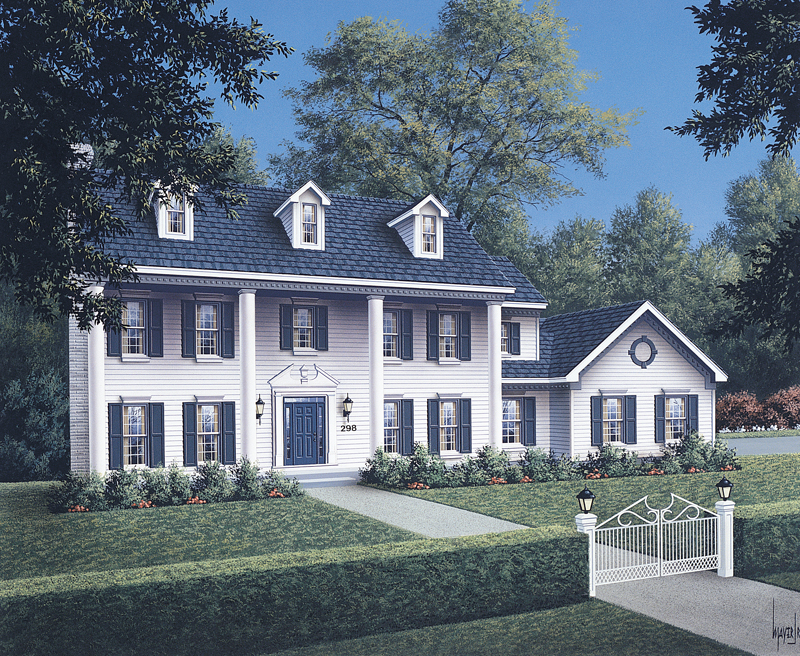 Traditional House Plan Front Image 001D-0037