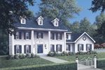 Colonial House Plan Front Image - 001D-0037 | House Plans and More