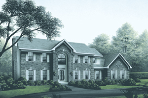 Georgian House Plan Front Image - 001D-0038 | House Plans and More