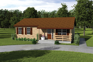 Ranch Home With Wood Trim
