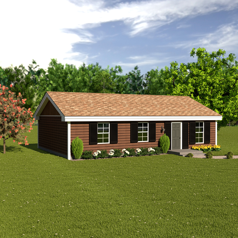 Ranch House Plan Front of Home 001D-0041
