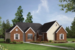 Ranch House Plan Front Image - 001D-0044 | House Plans and More
