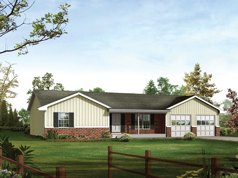 Compact Ranch With Covered Porch