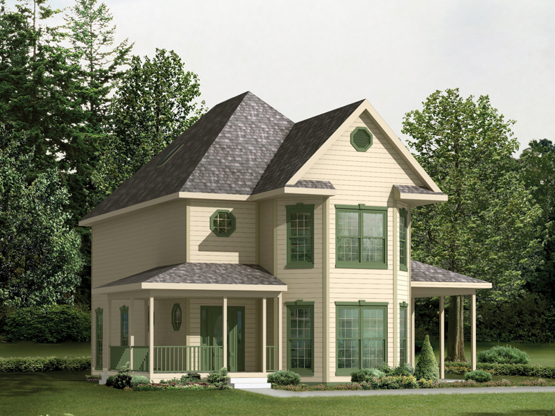 Vacation House Plan Front of Home 001D-0060