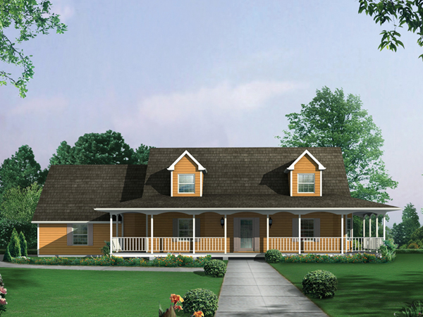Country ranch farmhouse plan 001d 0061 house plans and more Farmhouse ranch house plans