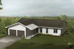 Economical Home With Two Front Load In Garages