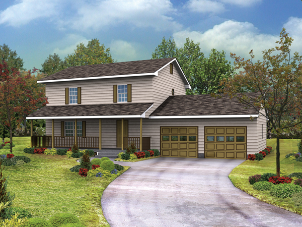 Country Charm I Two Story Home Plan 001d 0074 House