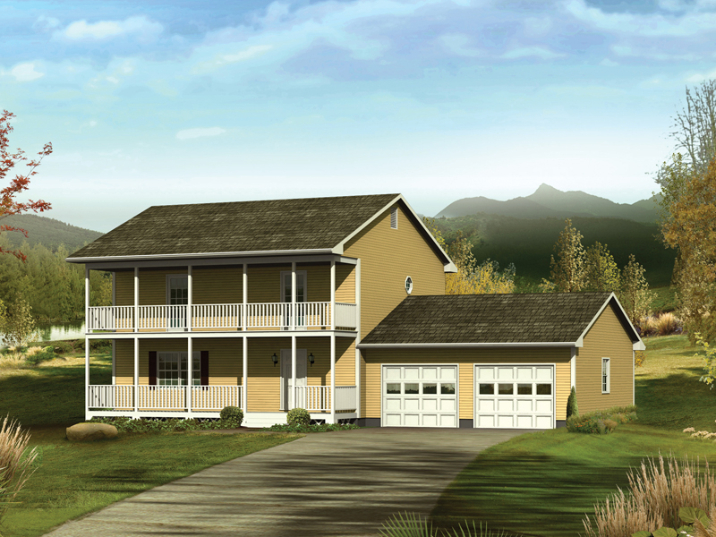 Farmhouse Plan Front of Home 001D-0075