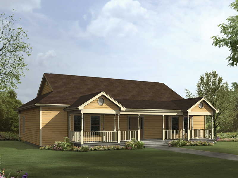 Ranch House Plan Front Image - 001D-0080 | House Plans and More