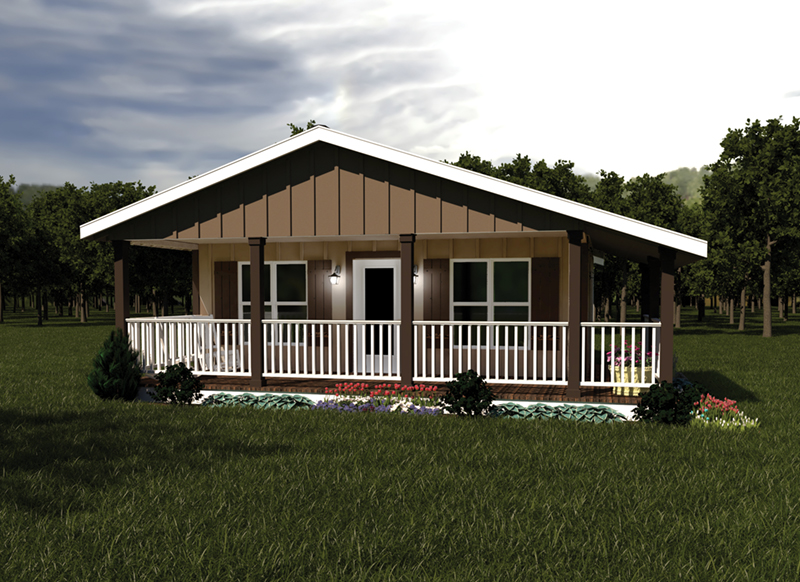 Ranch House Plan Front of Home 001D-0085
