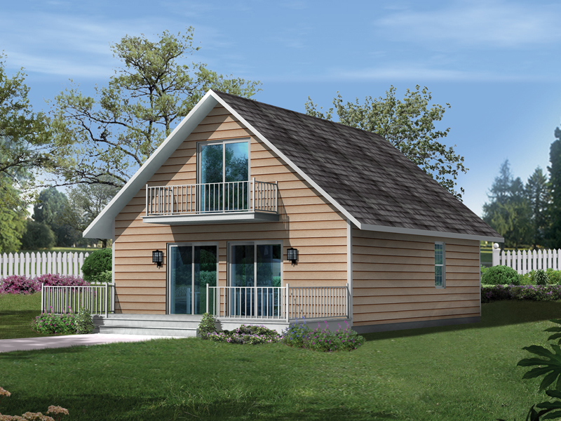Cabin and Cottage Plan Front of Home 001D-0087
