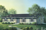 Ranch House Plan Front Image - 001D-0090 | House Plans and More