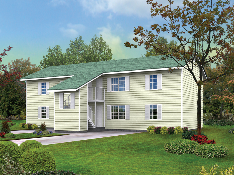 Colonial House Plan Front of Home 001D-0094