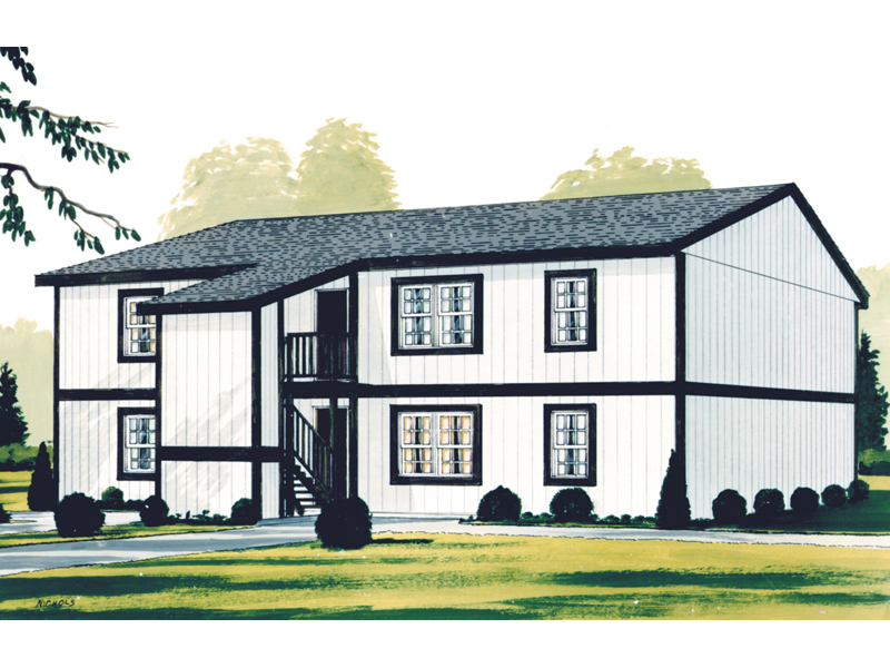 Colonial House Plan Front of Home 001D-0095