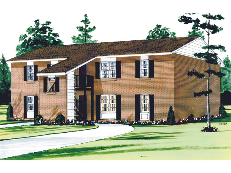 A Balance Of Style And Function Describes This Multi-Family Home Plan