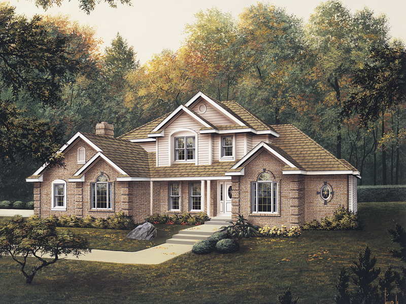 Traditional House Plan Front of Home 003D-0004