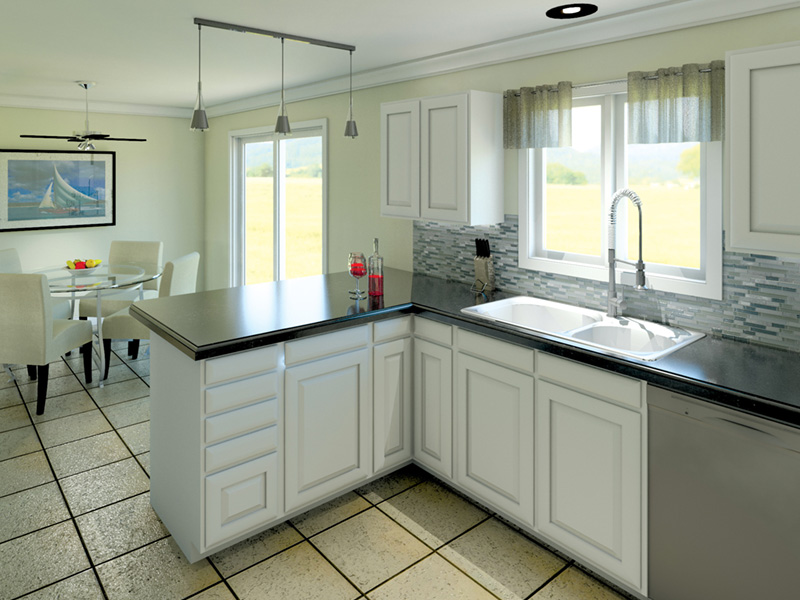 Cape Cod and New England Plan Kitchen Photo 03 005D-0001
