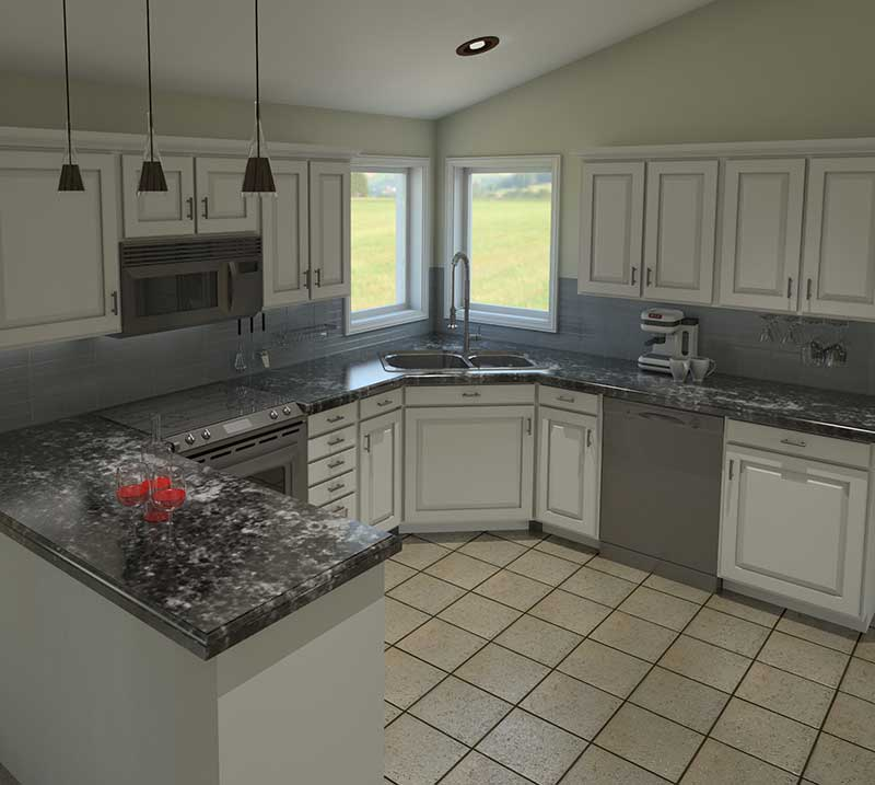 Traditional House Plan Kitchen Photo 01 - 006D-0003 | House Plans and More