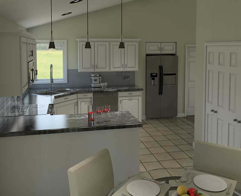 Ranch House Plan Kitchen Photo 03 - 006D-0003 | House Plans and More