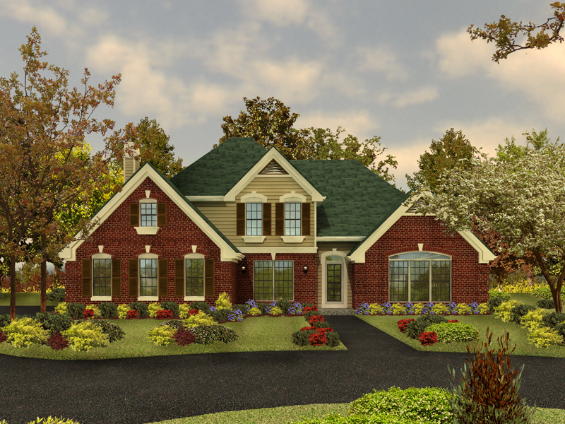 Traditional House Plan Front Image 007D-0001