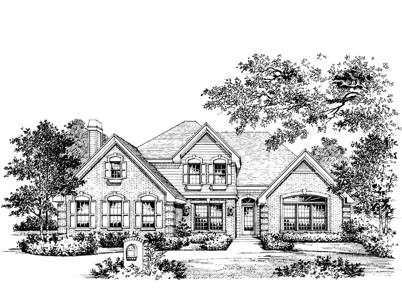 Traditional House Plan Front Image of House 007D-0001