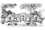 Southwestern House Plan Front Image of House - 007D-0002 | House Plans and More