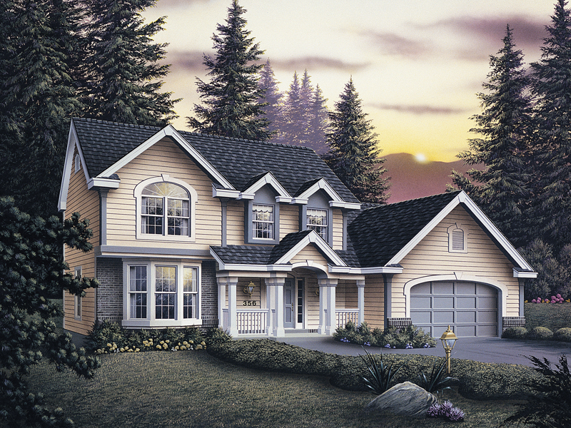 Traditional House Plan Front of Home 007D-0003