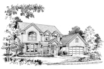 Country House Plan Front Image of House - 007D-0003 | House Plans and More