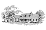 Country House Plan Front Image of House - 007D-0004 | House Plans and More
