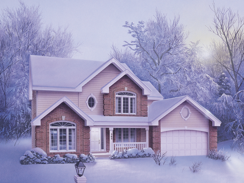 Traditional House Plan Front of Home 007D-0005