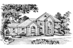 Luxury House Plan Front Image of House - 007D-0006 | House Plans and More