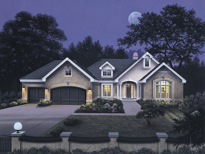 Traditional House Plan Front of Home 007D-0008