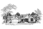 Traditional House Plan Front Image of House - 007D-0008 | House Plans and More