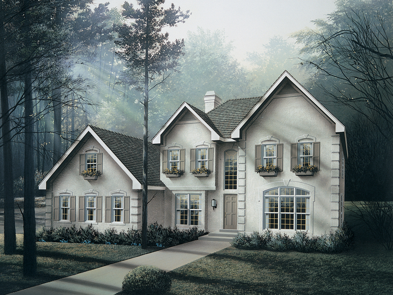 Traditional House Plan Front of Home 007D-0009