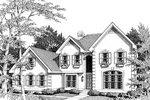 Colonial House Plan Front Image of House - 007D-0009 | House Plans and More