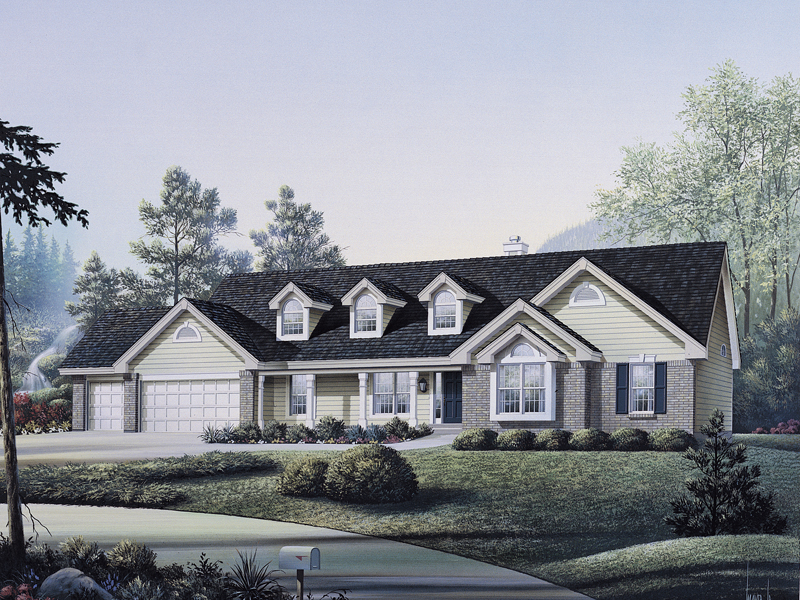 Ranch House Plan Front Image 007D-0010