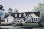 Ranch House Plan Front Image - 007D-0010 | House Plans and More
