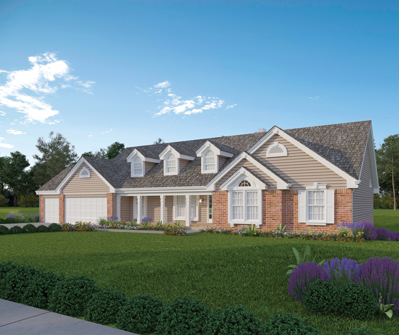 Ranch House Plan Front of Home 007D-0010