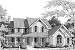 Victorian House Plan Front Image of House - 007D-0011 | House Plans and More