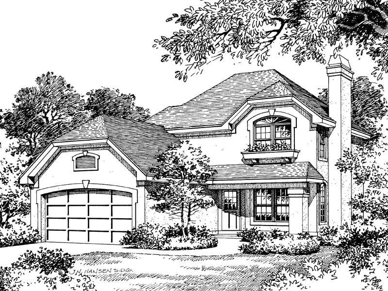 Cabin and Cottage Plan Front Image of House - 007D-0013 | House Plans and More