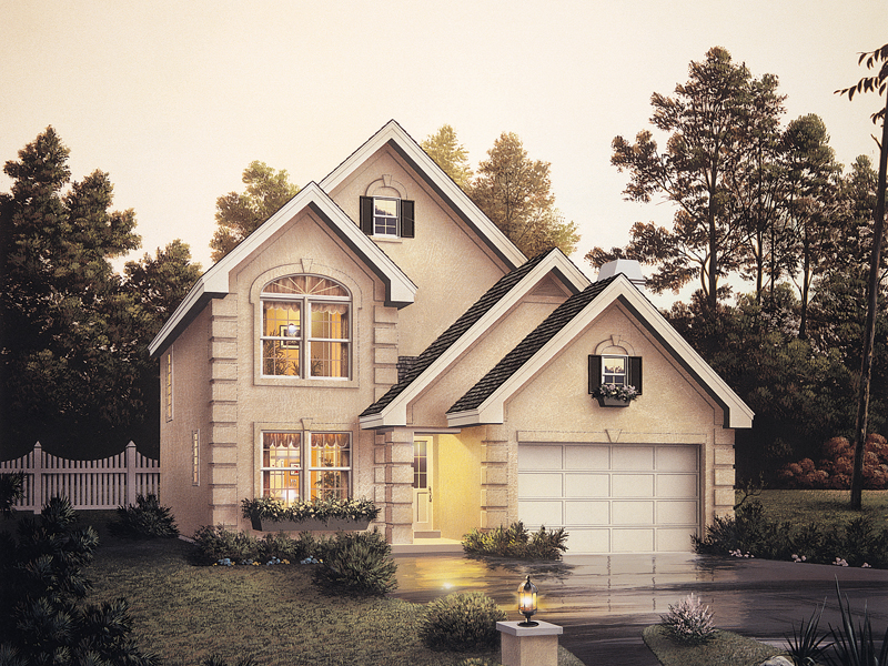 Traditional House Plan Front of Home 007D-0014